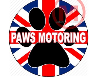 """Grill Badge- Paws Motoring 3"""" magnetic grill badge"""