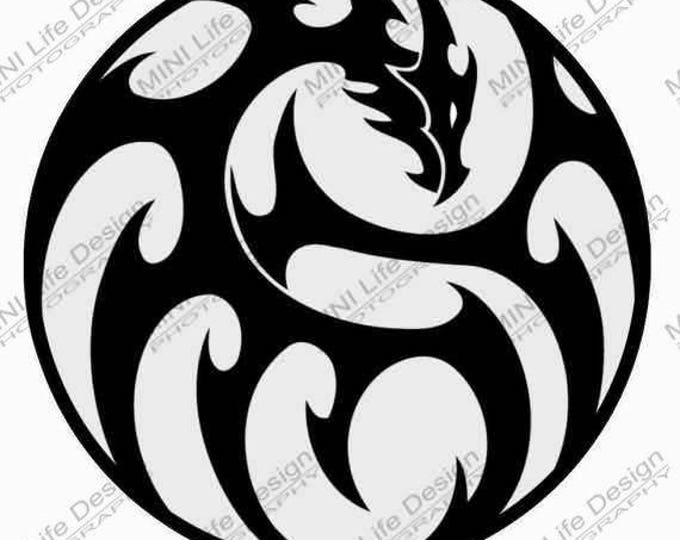 Dragon vinyl decal