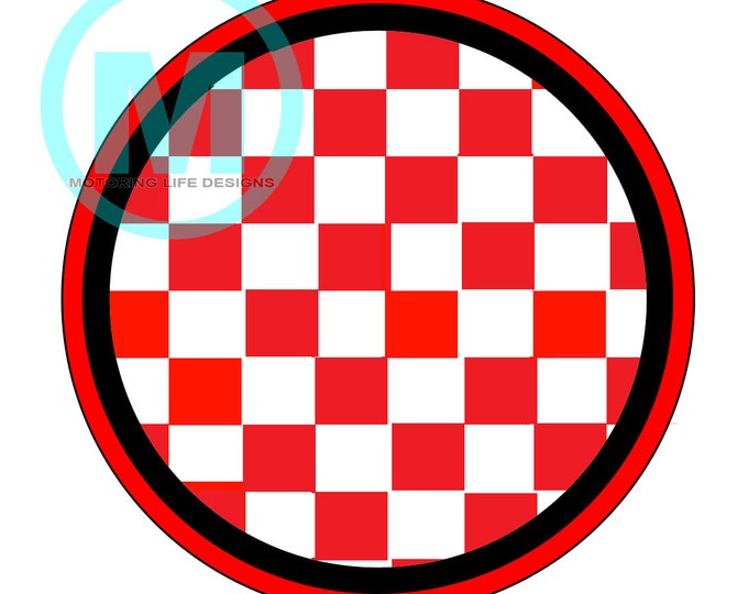 """Red Check 3"""" magnetic badge"""