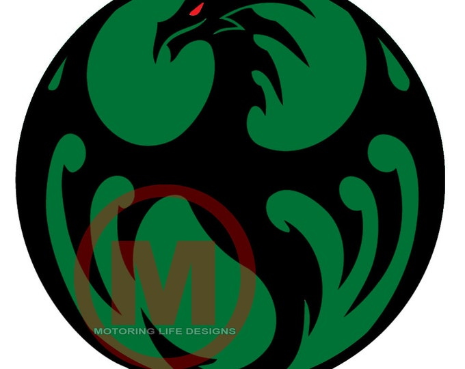 """Grill Badge- Green Dragon 3"""" magnetic grill badge"""