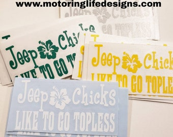 Jeep Chicks vinyl decal