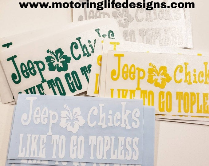 Jeep Chicks vinyl decal