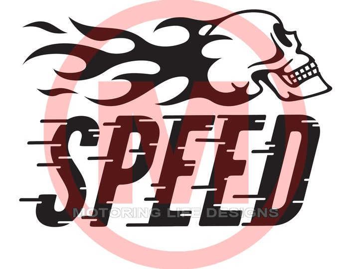 SPEED vinyl decal