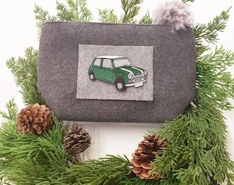 Bag with green Mini, dark gray