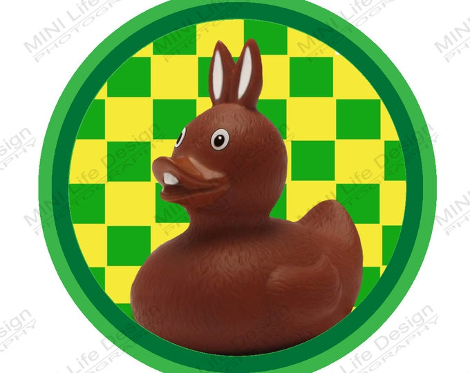"Grill Badge- Easter Bunny Duck 3"" magnetic grill badge"