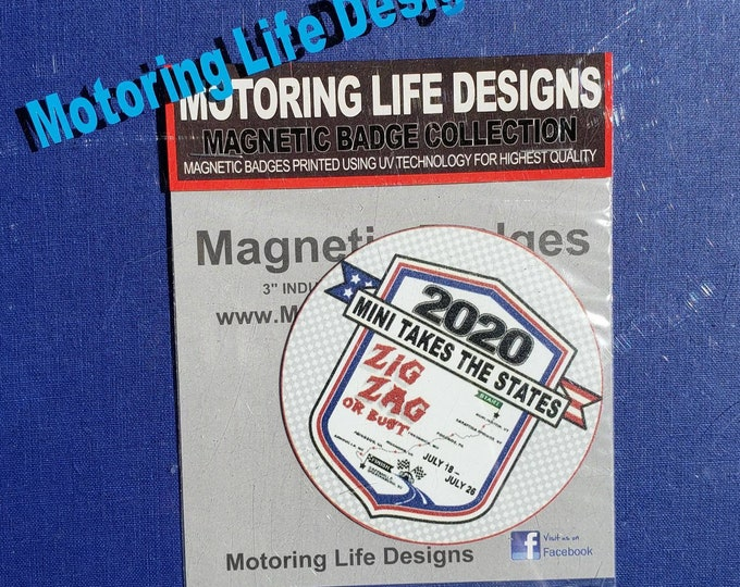 "Grill Badge- MTTS 2020  3"" magnetic grill badge"