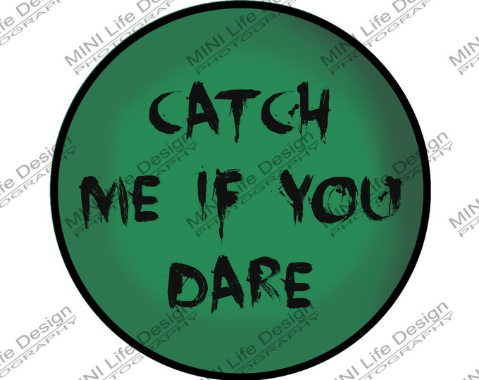 "Grill Badge- Catch Me 3"" magnetic grill badge"