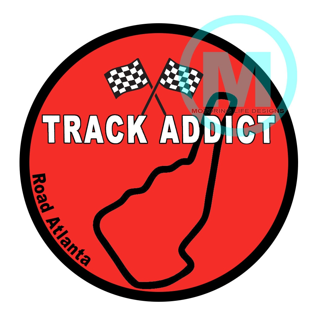 Stickers road atlanta track addict 3 magnetic grill badge
