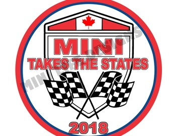 """Grill Badge- MTTS 2018 CANADA version  3"""" magnetic grill badge"""