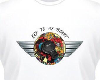 Clé de mon coeur... t-shirt