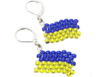 Ukraine - soccer World Cup - colours - earrings - merchandise (BS-1350)