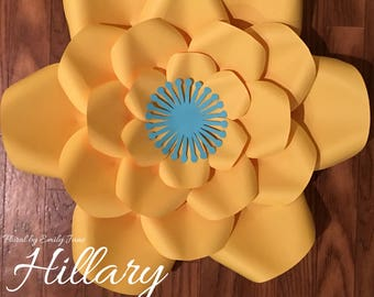 Hillary Large Paper Flower Template
