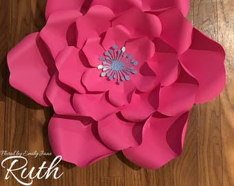 Large Paper Flower Template - Ruth
