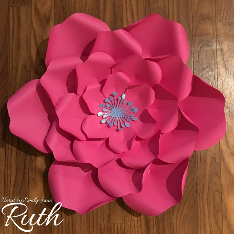 Large Paper Flower Template  Ruth image 0