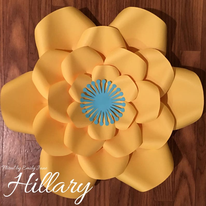Hillary Large Paper Flower Template image 0