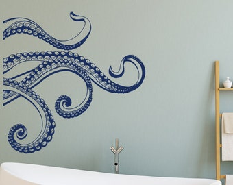 More colors. Kraken Octopus Tentacles Vinyl Wall Decal- ... & Octopus wall decal | Etsy