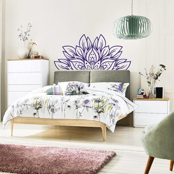 Wunderbar NEUE Kopfteil Wand Aufkleber Blume Mandala Schlafzimmer Dekor