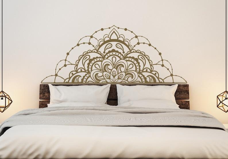 Half Mandala Vinyl Wall Decals for Bedroom Mandala Decal Car image 0