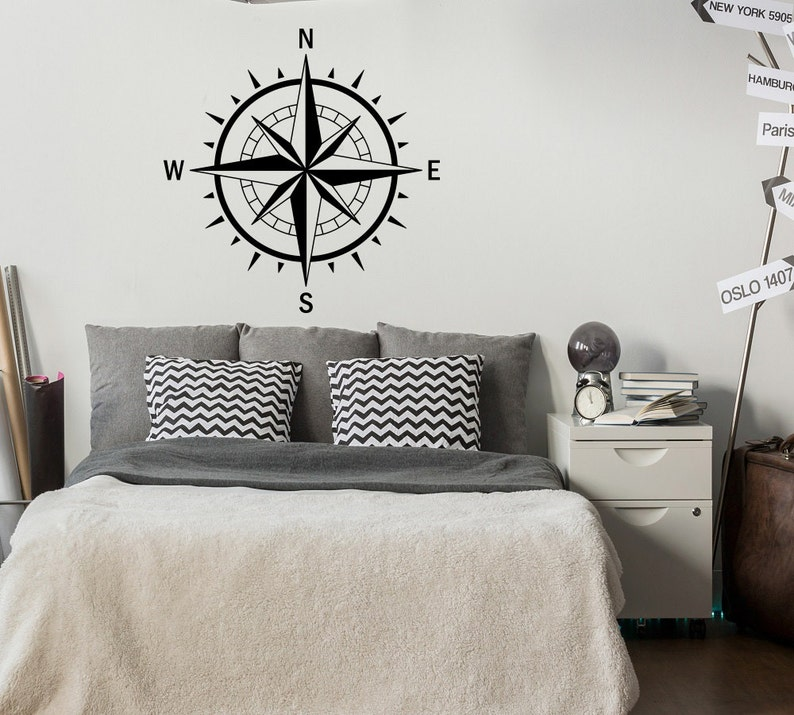 Prime Compass Rose Wall Decal Nautical Bedroom Decor Nautical Decal Compass Wall Art Travel Wall Decor Compass Decal North South East West 60 Download Free Architecture Designs Embacsunscenecom