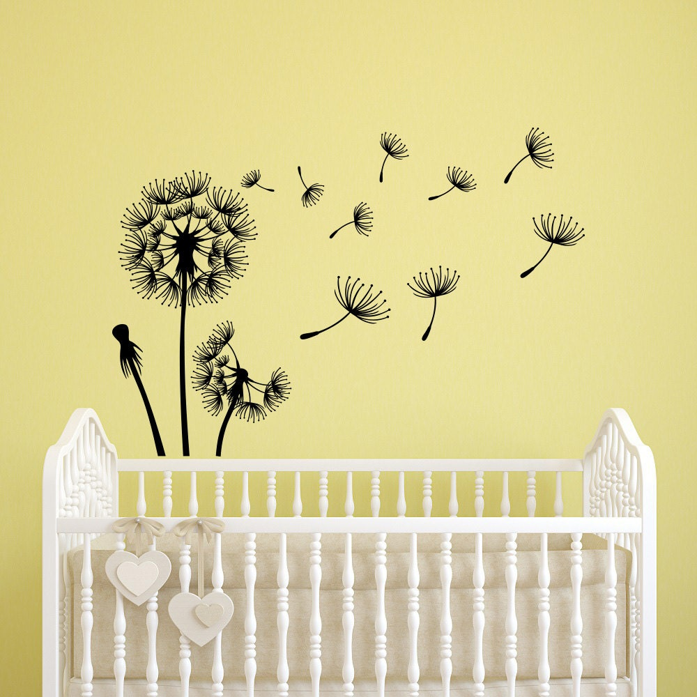 Dandelion Seeds Wall Decal Flower Dandelion Wall Decals | Etsy