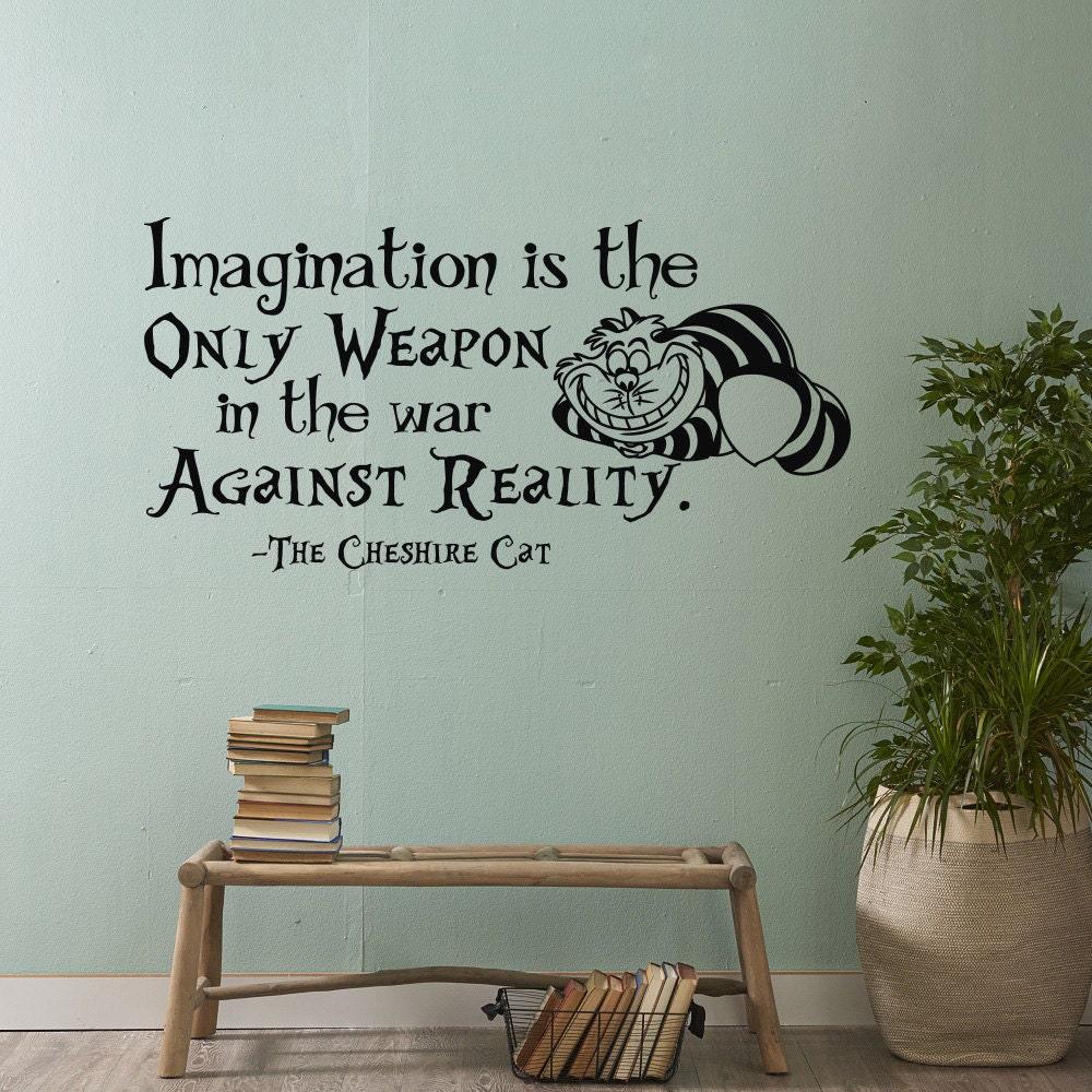 Alice im Wunderland Wand Aufkleber Zitat Phantasie ist die | Etsy