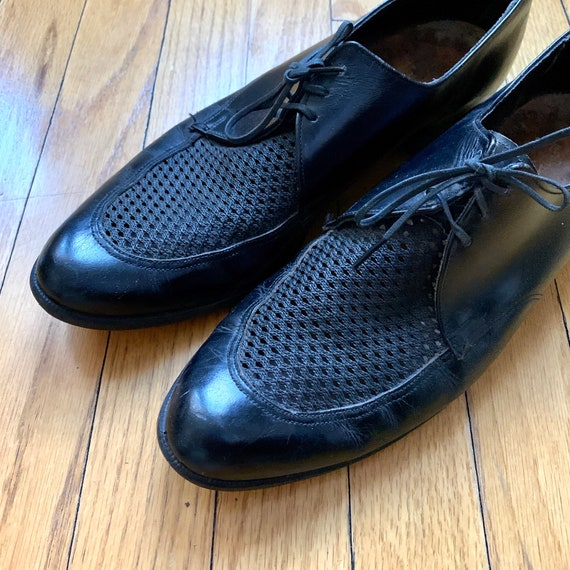 Vintage 1950s Mesh Top Dress Shoes