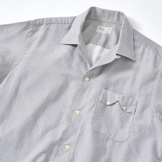 Vintage 1950s Loop Collar Shirt XL