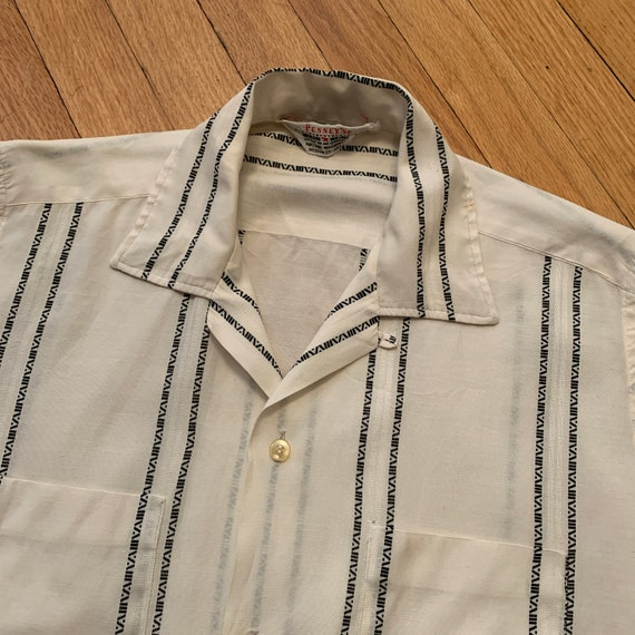 Vintage 50s/60s Loop Collar Shirt Medium