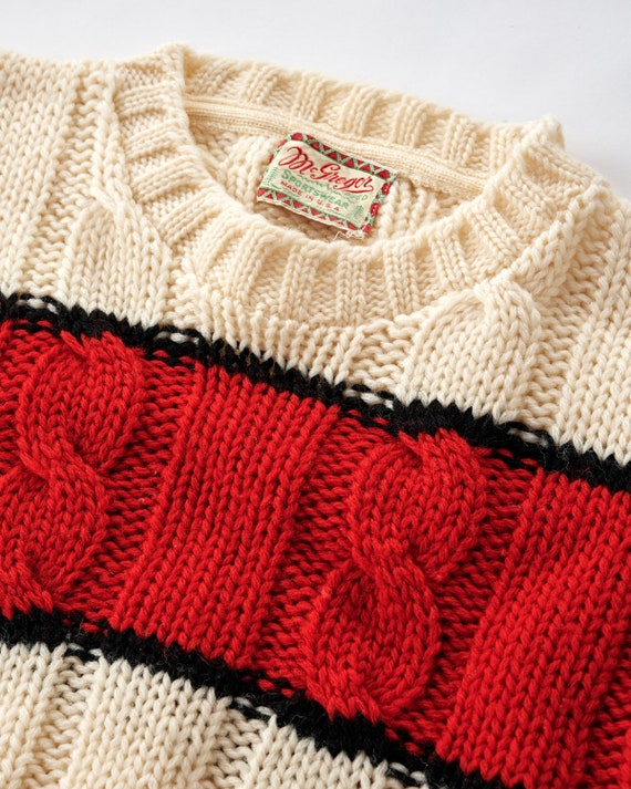 Vintage 1950s Cable Knit Sweater