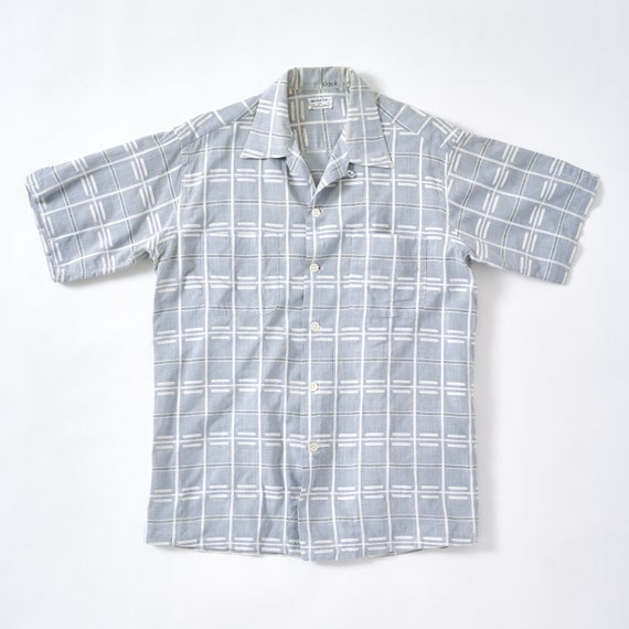 Vintage 1950s Loop Collar Shirt Medium