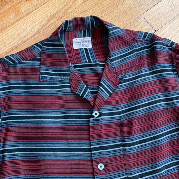 Vintage 1950s Penney's Rockabilly Stripe Loop Coll