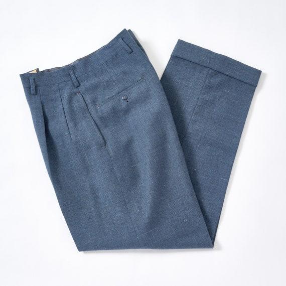 Vintage 1950s Wool Fleck Pants 32 Waist