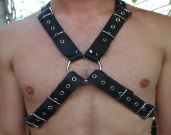 Harness leather of Brustharness black onesize