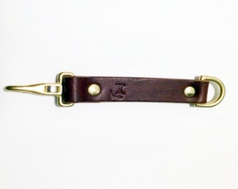 Leather brass Key Ring brown, steampunk,