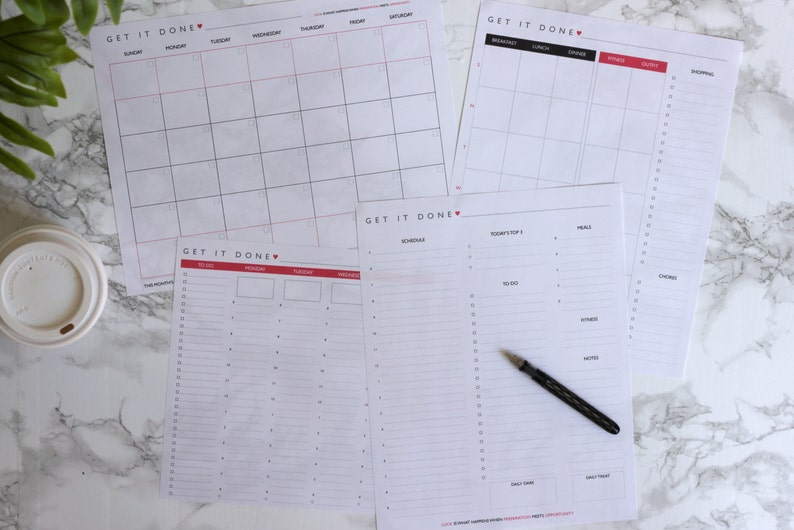 Get It Done Planner Sheets image 0