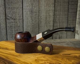 Adjustable Leather Pipe/Cigar Rest