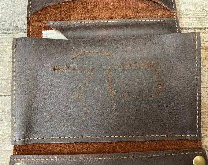 Featured listing image: Branded and Scarred - Unique and One of a Kind Large Leather Tobacco Pipe Pouches / Pipe Rolls / Pipe Bags