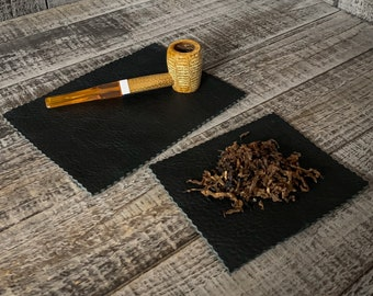 Bison Leather Tobacco Mat in Various Colors and Finishes