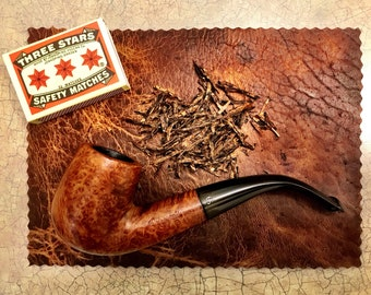 Bison Leather Tobacco Mat