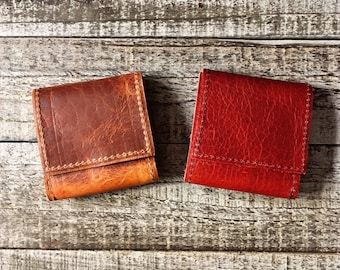 Small Bison / Buffalo Leather Tobacco Pouch / Roll - Leather with Inside Coating