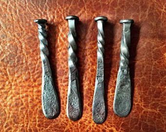 Blacksmith Hand Forged Rustic Pipe Tampers and Railroad Date Tampers