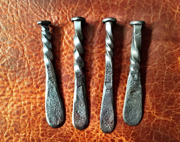 Featured listing image: Blacksmith Hand Forged Rustic Pipe Tampers and Railroad Date Nail Tampers