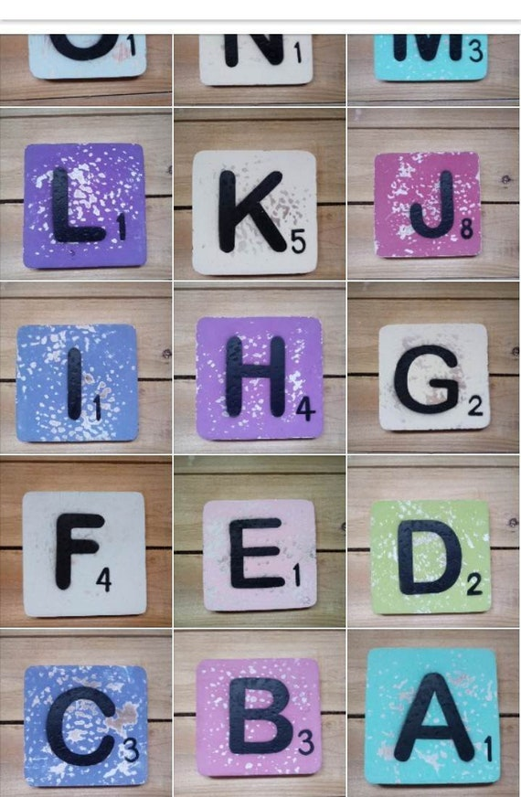 Alphabet Stone Resin Ceramic Coasters Coffee Initial Drink Shabby Chic Gifts