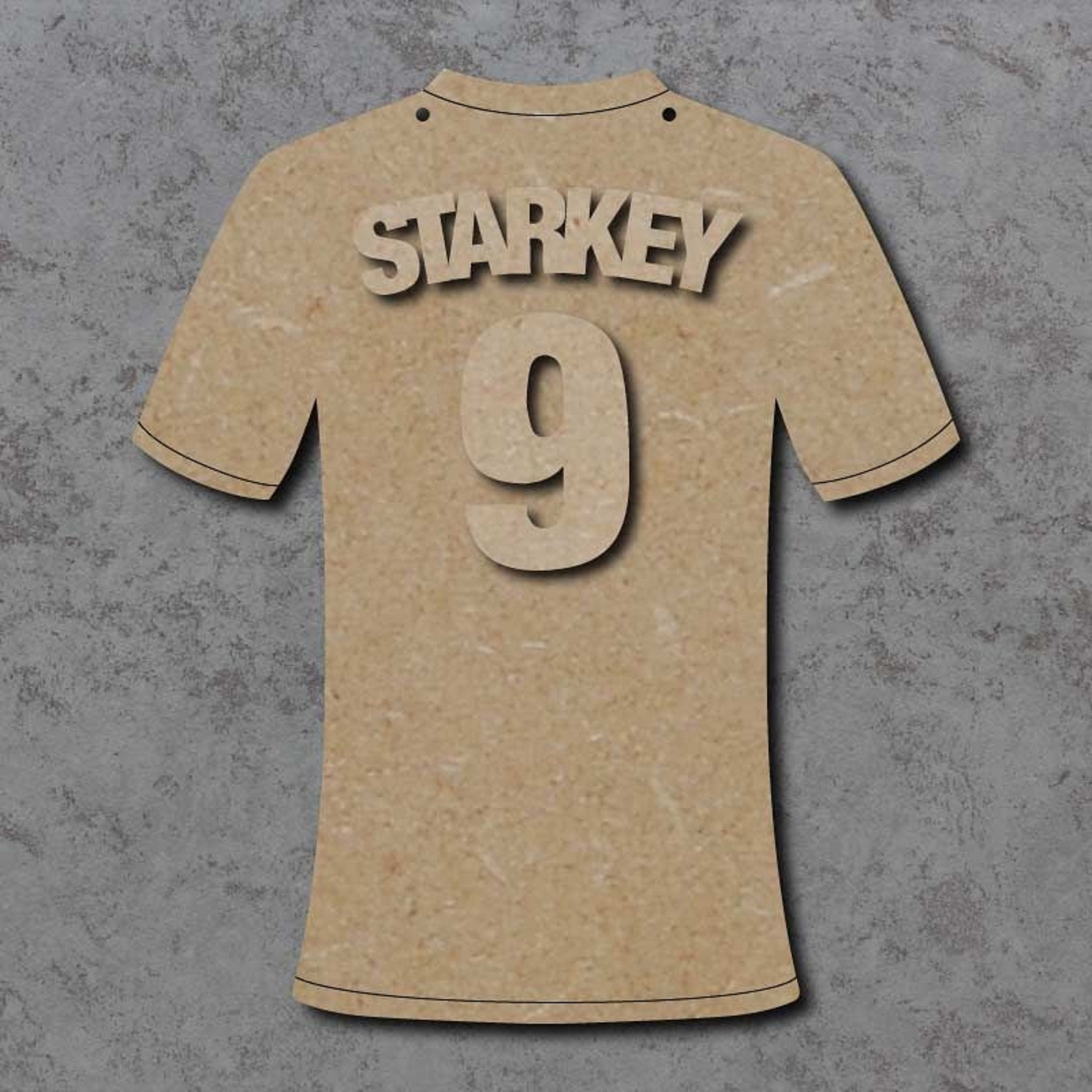 MDF wooden blanks ready to paint shapes Mdf Personalised Football Name Plaque