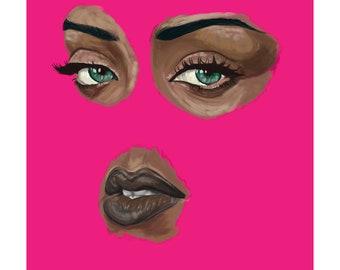 Ri Ri Art Print (Inspired by Rihanna)