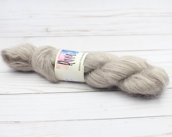 hand dyed yarn  mohair/Silk Wool 70/30 for crochet, Knitting