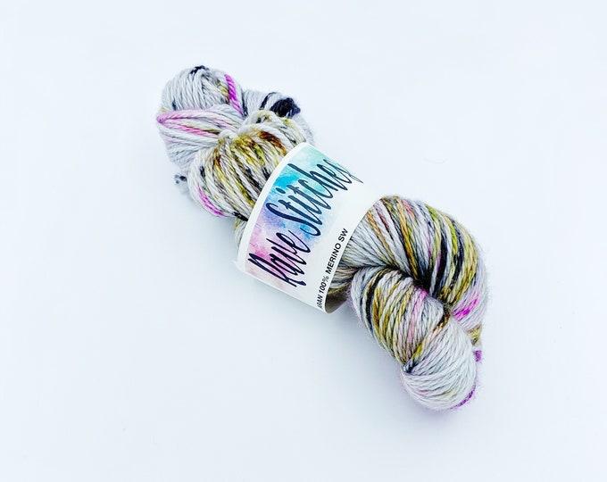 Aran, worsted  weight 100% Merino hand dyed super wash yarn