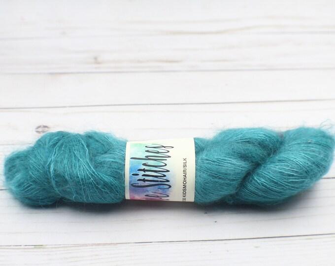 hand dyed yarn, mohair/Silk yarn  70/30 for crochet, Knitting