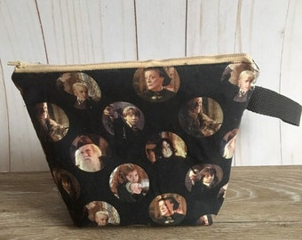 Harry Potter zipper cosmetic bag, yarn bag