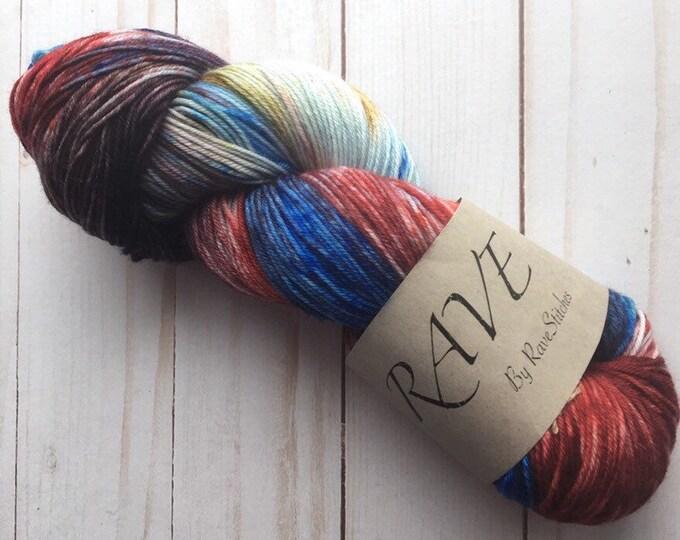 85/15 4 ply Superwash Merino Nylon Hand Dyed Yarn